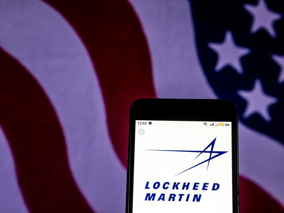 Lockheed Martin Aerospace and defense company logo seen