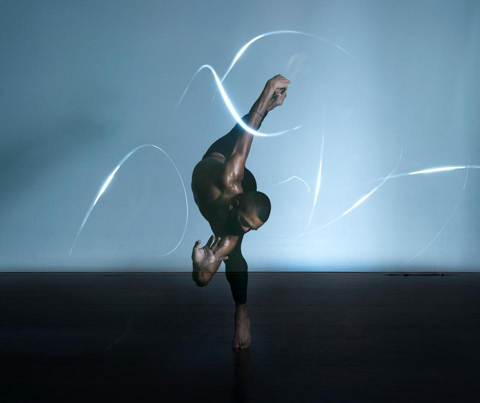 """Studio Wayne McGregor dancer Jacob O'Connell performs in """"No One is an Island″"""
