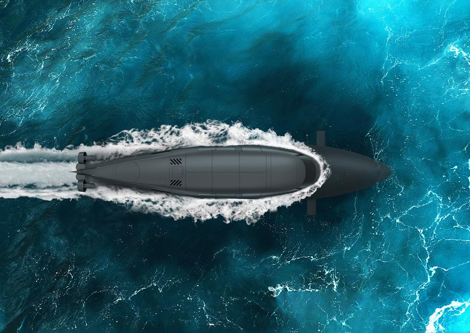 Victa submarine by SubSea Craft starts its dive into the ocean