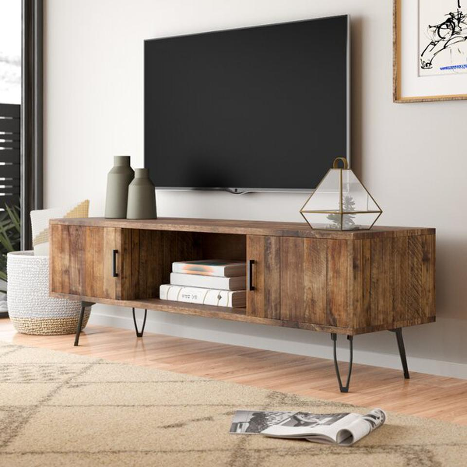 Quijada Solid Wood TV Stand for TVs up to 65″