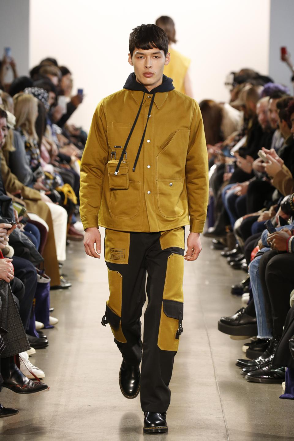 The Puffer Work Jacket with Hood as seen in the Private Policy Fall Winter 2020 Runway Collection