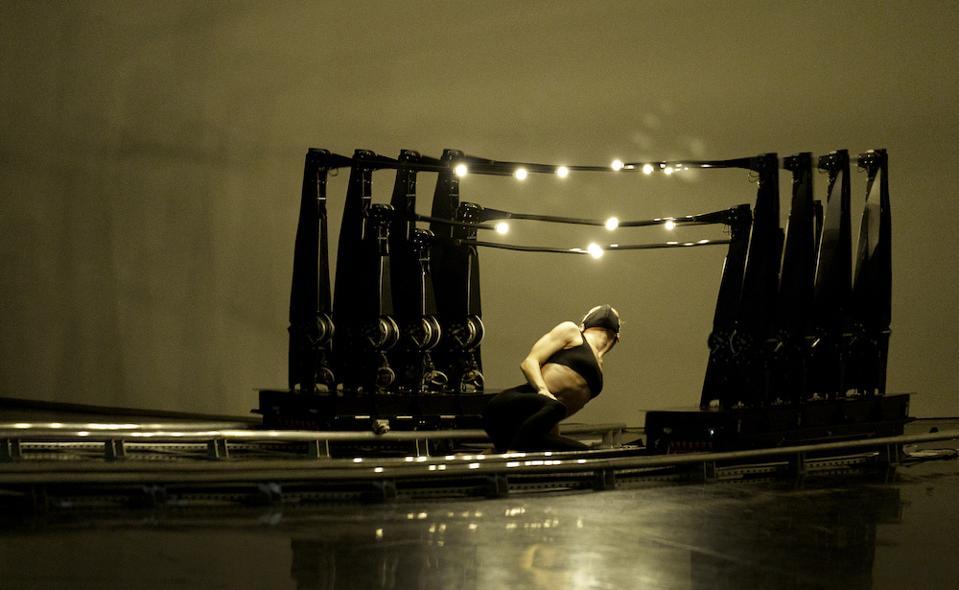 Dancer Rebecca Bassett-Graham from Studio Wayne McGregor perform in BMW's ″No One is an Island″