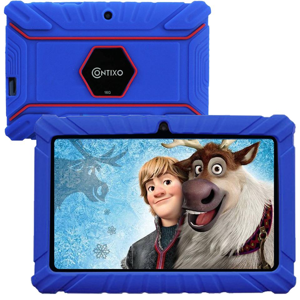 Contixo Kids Learning Tablet V8-2 Android 8.1 Bluetooth WiFi Camera for Children Infant Toddlers Kids 16GB Parental Control