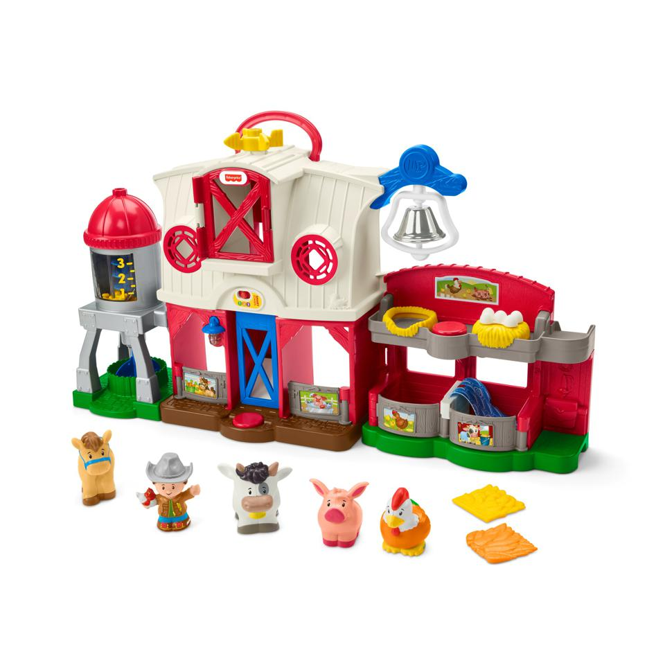 Fisher-Price Little People Caring for Animals Farm Smart Stages Playset