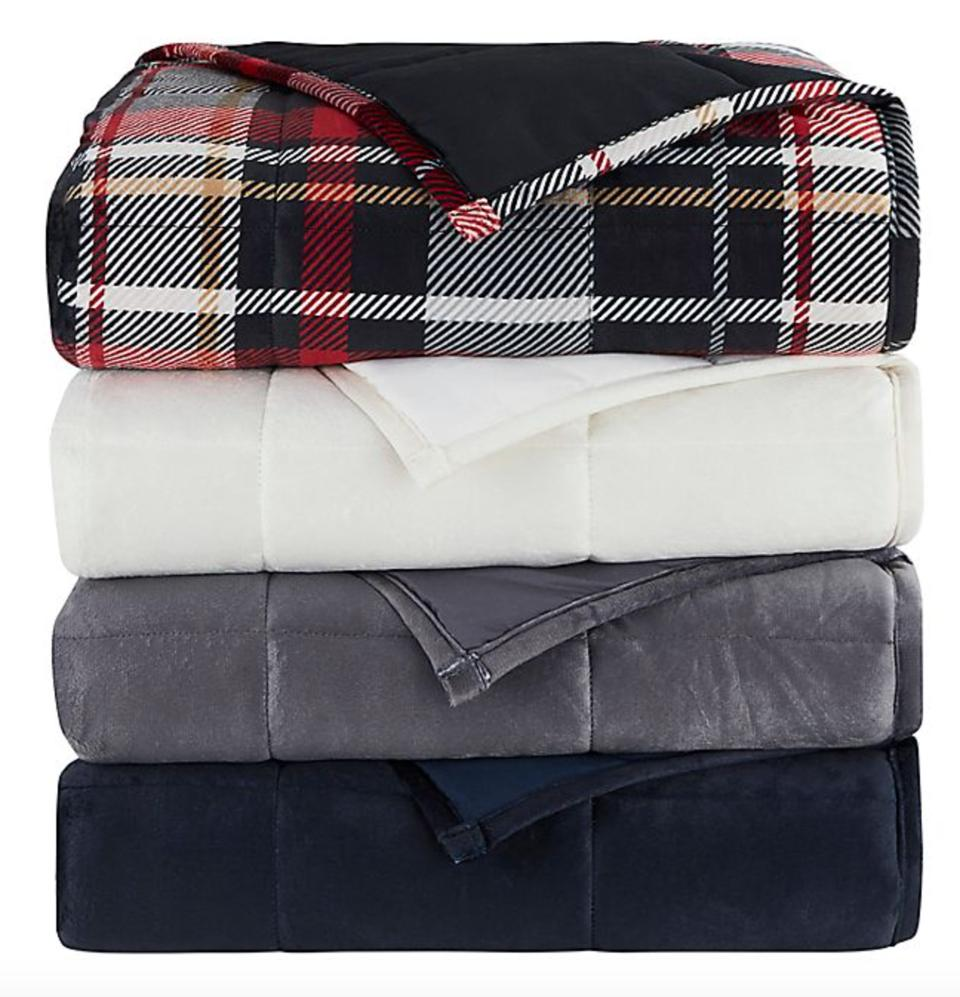 Morgan Home Faux Mink 12 lb. Weighted Blanket