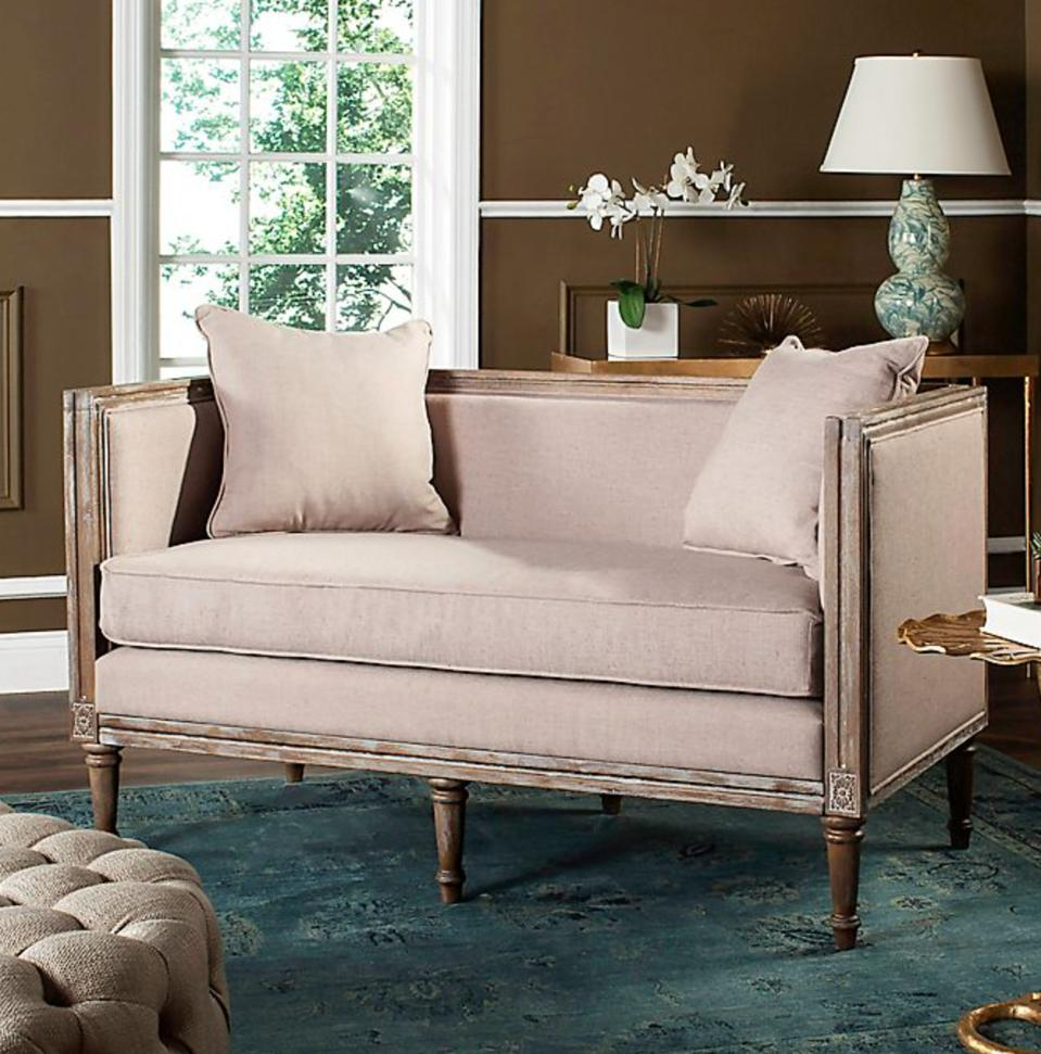 Safavieh Leandra French Country Settee in Taupe