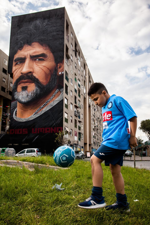 Graffiti of Diego Armando Maradona in Naples