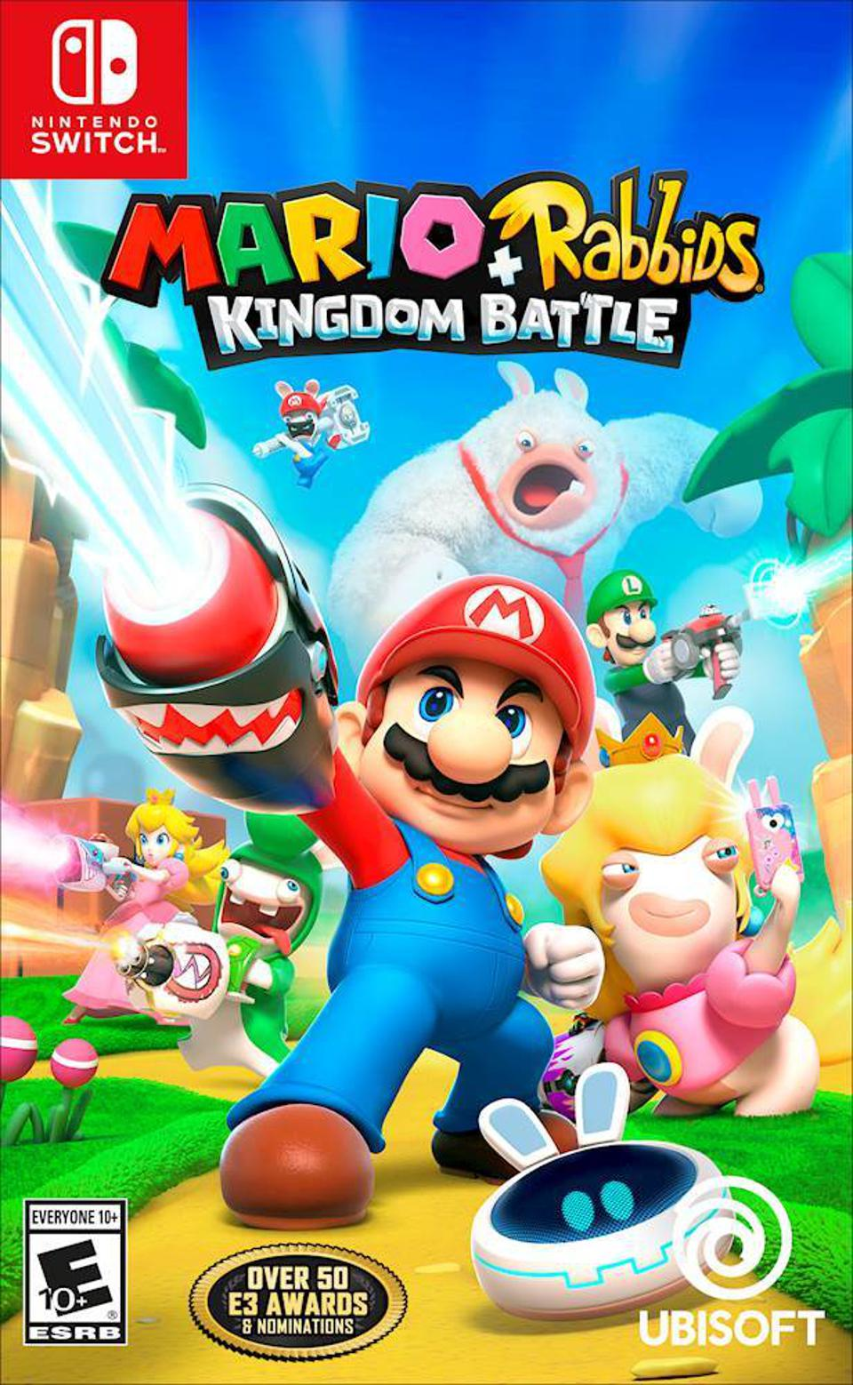 Mario + Rabbids Kingdom Battle for Nintendo Switch retail box art