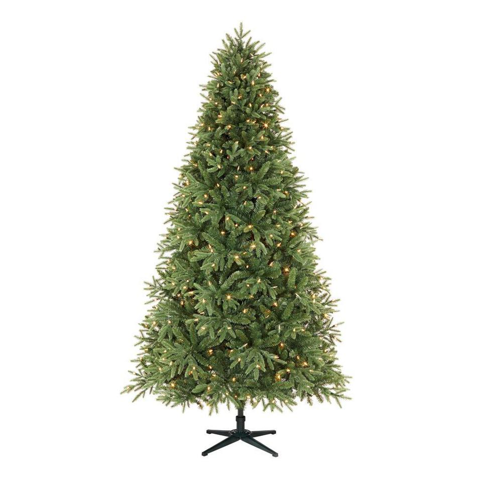 Home Accents Holiday 7.5 ft. Ellis Black Spruce LED Pre-Lit Tree with 500 Color Changing Lights