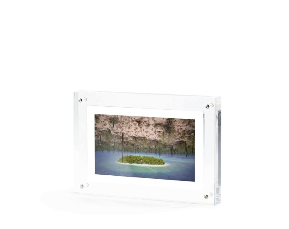 photo in clear frame