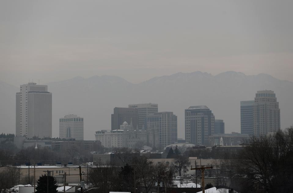 Salt Lake City Pollution Is Visible During Winter Inversion