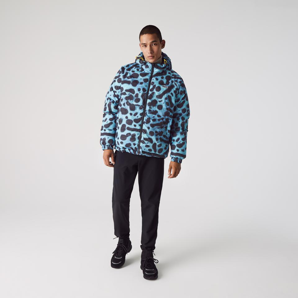 Lacoste x National Geographic Reversible Quilted Zip Jacket