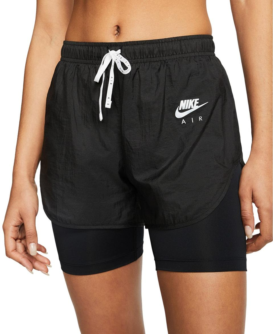 Nike Women's Air 2-In-1 Training Shorts in black.