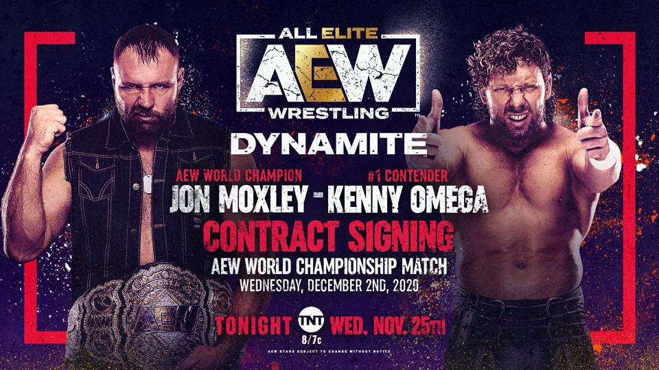 Kenny Omega and Jon Moxley are set t have a contract signing after Moxley was laid out during last week's signing.