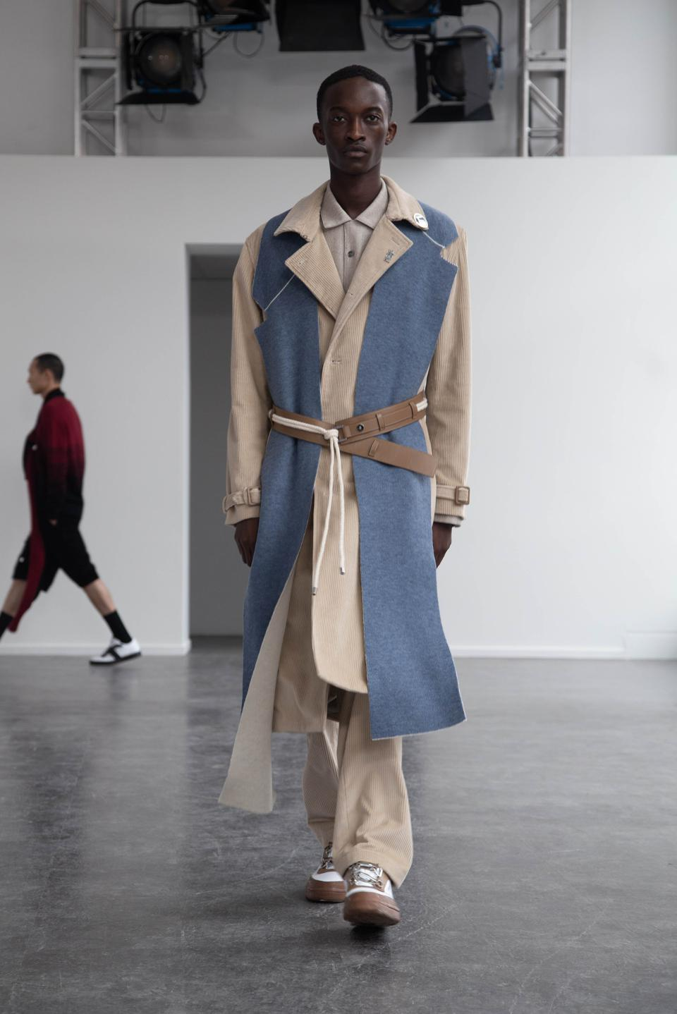 The Luggage Trench Coat in Ecru from Victor Li.