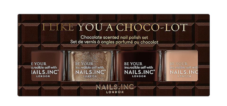 Nails inc I Like You A Choco-Lot Nail Polish Quad