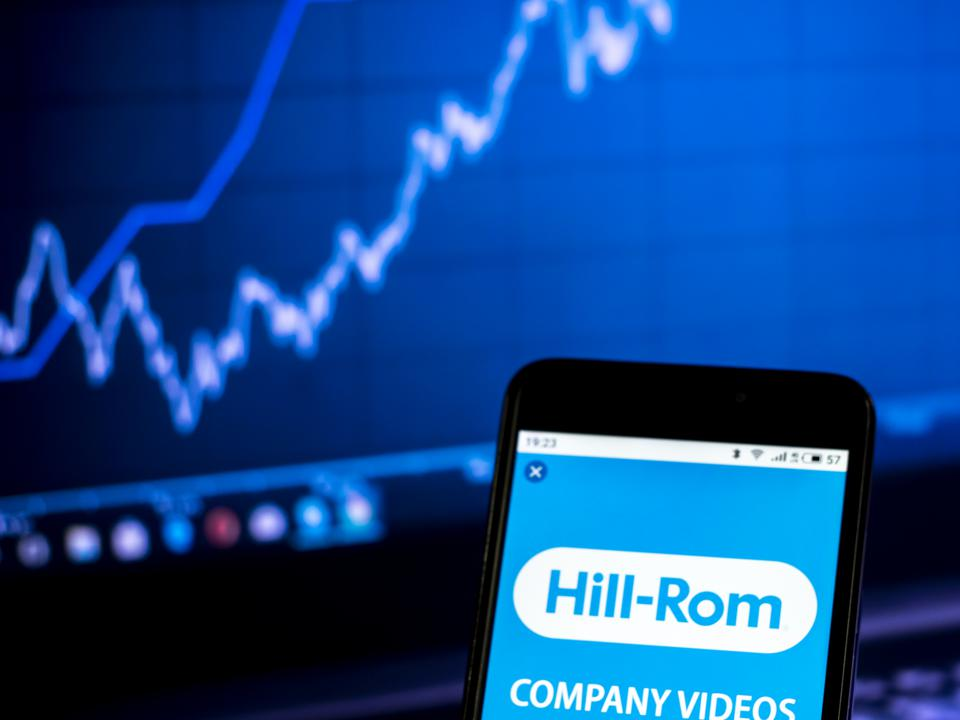Hill-Rom Holdings, Inc. logo seen displayed on a smart phone