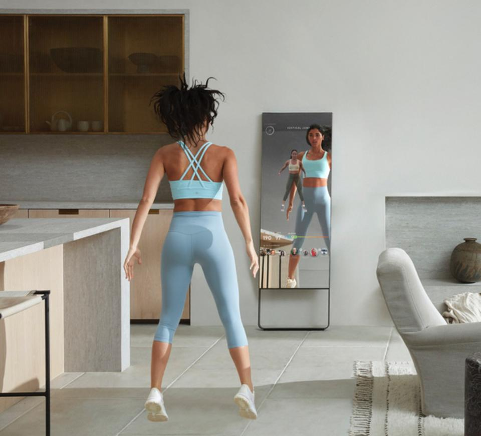A fitness training mirror