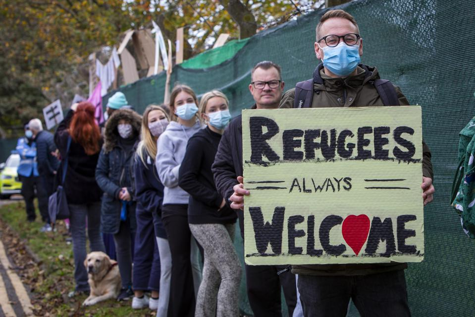 Folkestone Residents Welcome Refugees To Napier Barracks