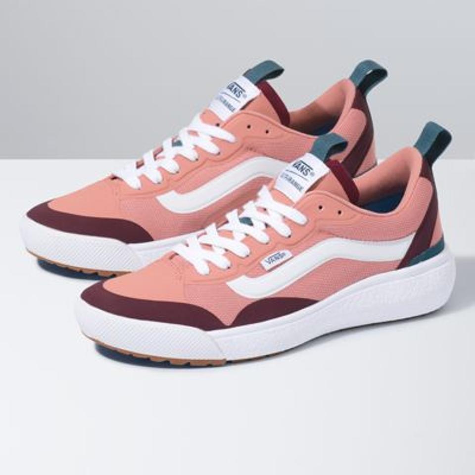 Pink and red Van's Pop UltraRange sneaker.