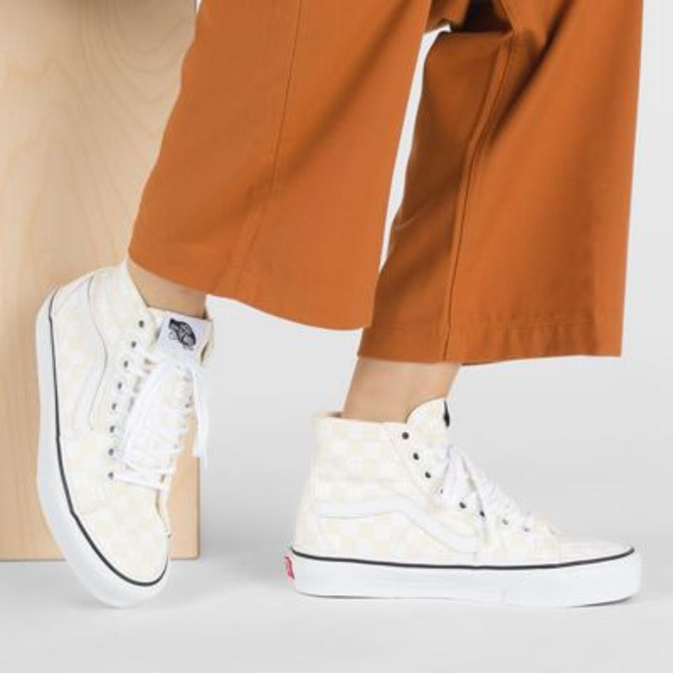 Checkerboard sk8-hi sneakers.