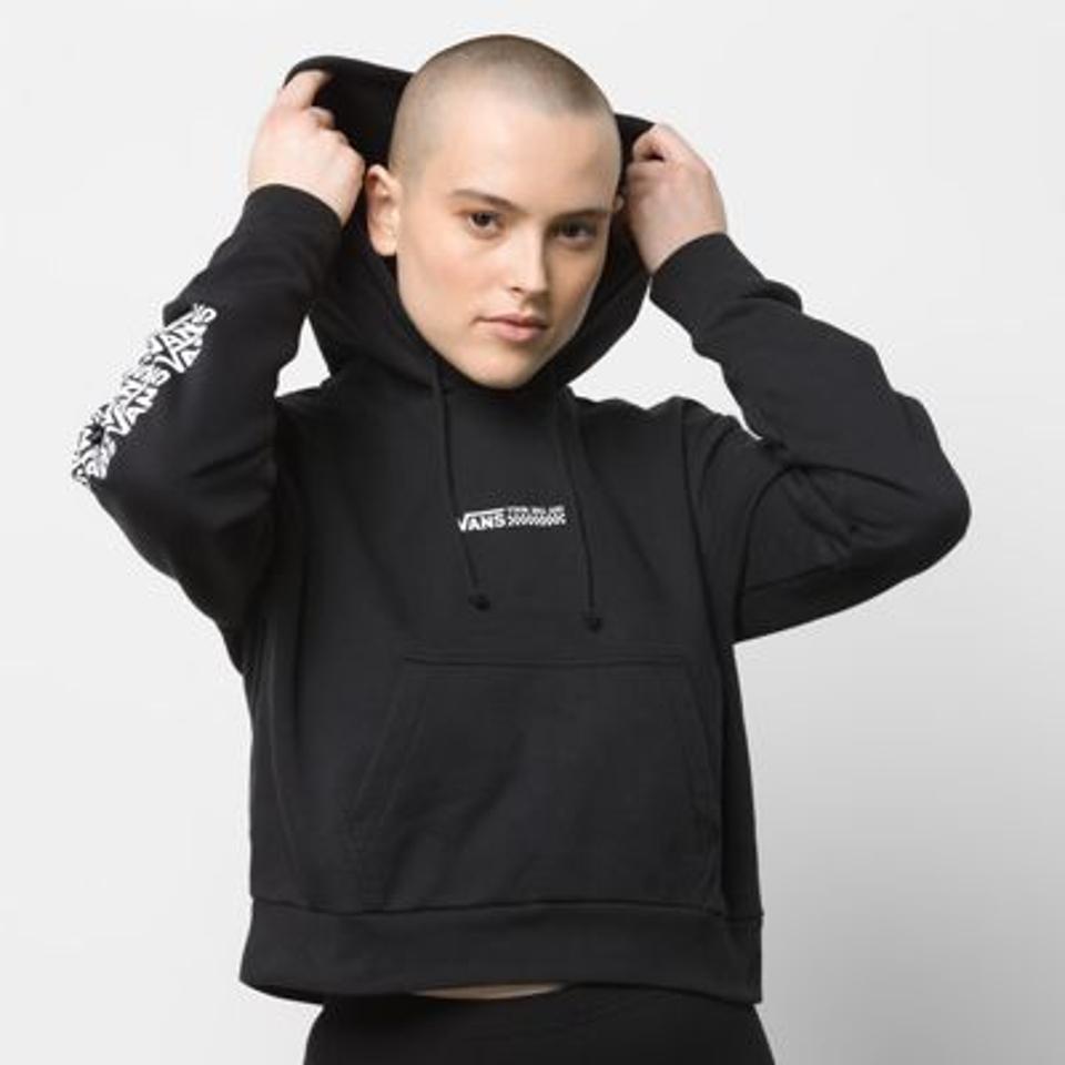 Black crop Vans hoodie.