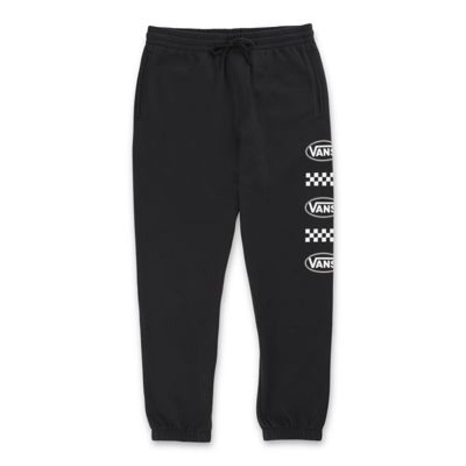 Side Oval Fleece Pant in black.