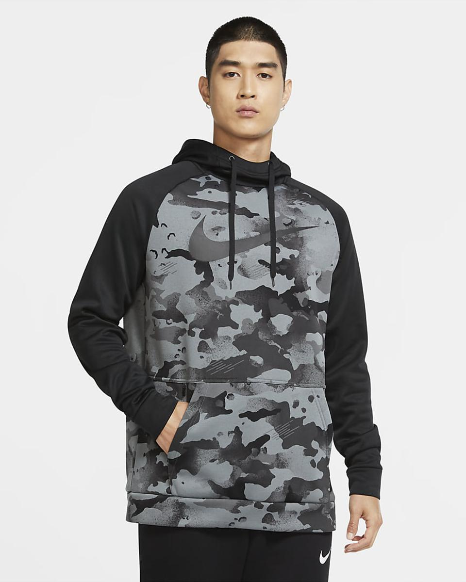 Men's Pullover Camo Training Hoodie