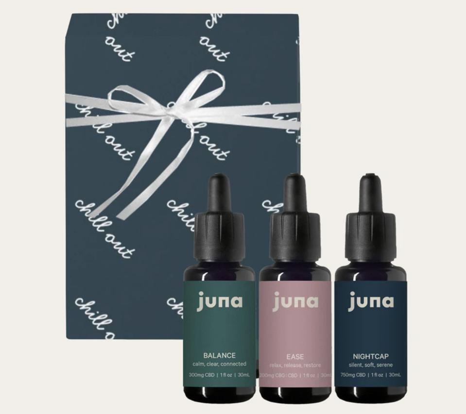 Juna CBD Jewel Zimmer Taylor Lamb Drops Oil Tincture Wellness Balance Ease Nightcap