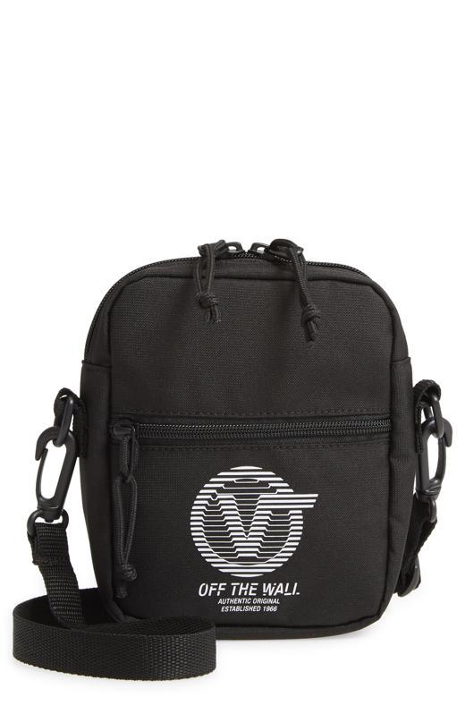 Vans Bail Canvas Shoulder Bag in black.
