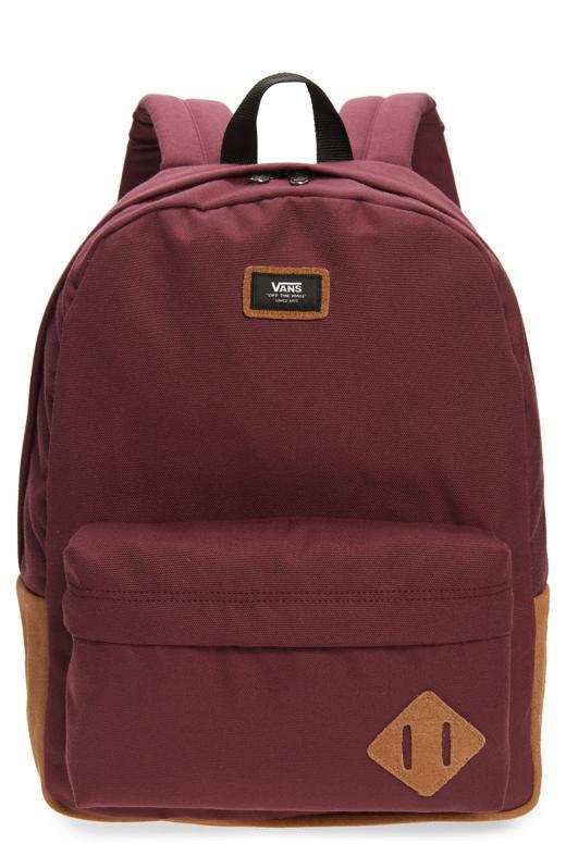 Vans Old Skool III Backpack in maroon.
