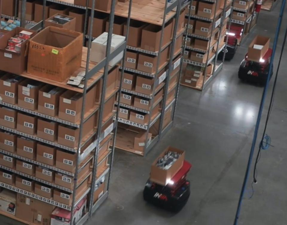 InVia robots in action in a warehouse