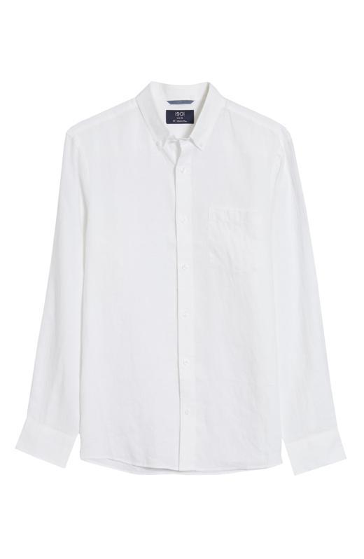 1901 Slim Fit Linen Button-Down Shirt
