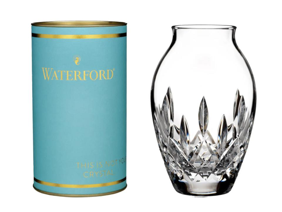 Waterford giftology lismore candy lead crystal bud vase