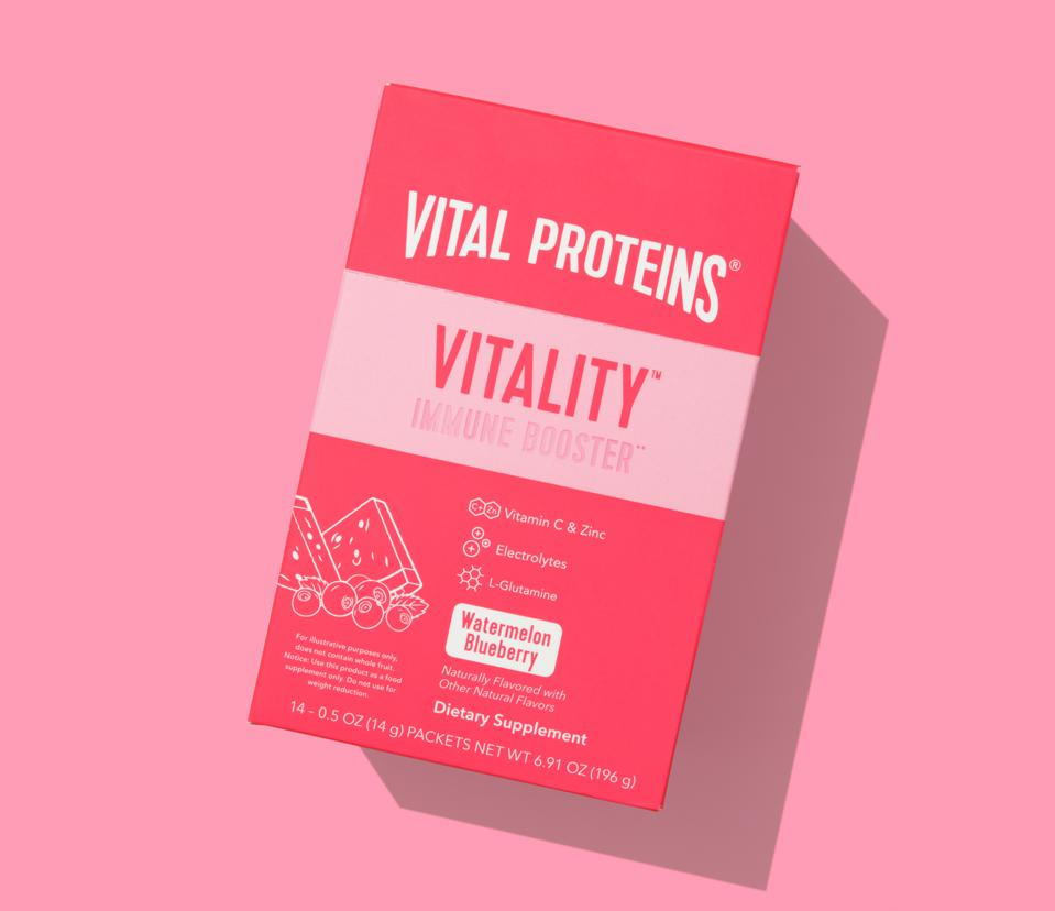 Vital Proteins Vitality™ Immune Booster Watermelon Blueberry wellness powders supplement