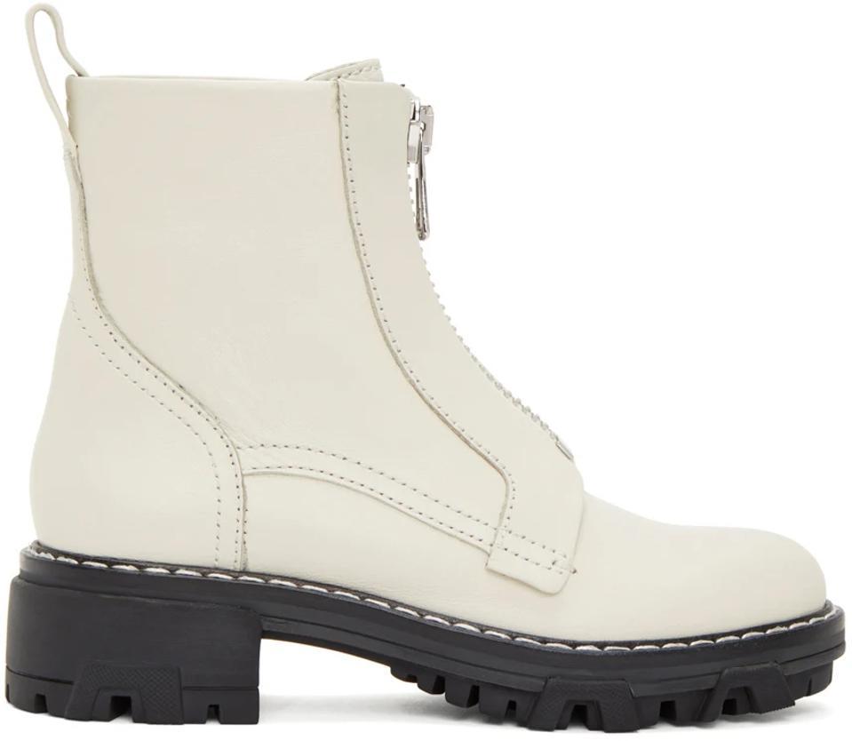 Off-white Rag & Bone zip up boots.