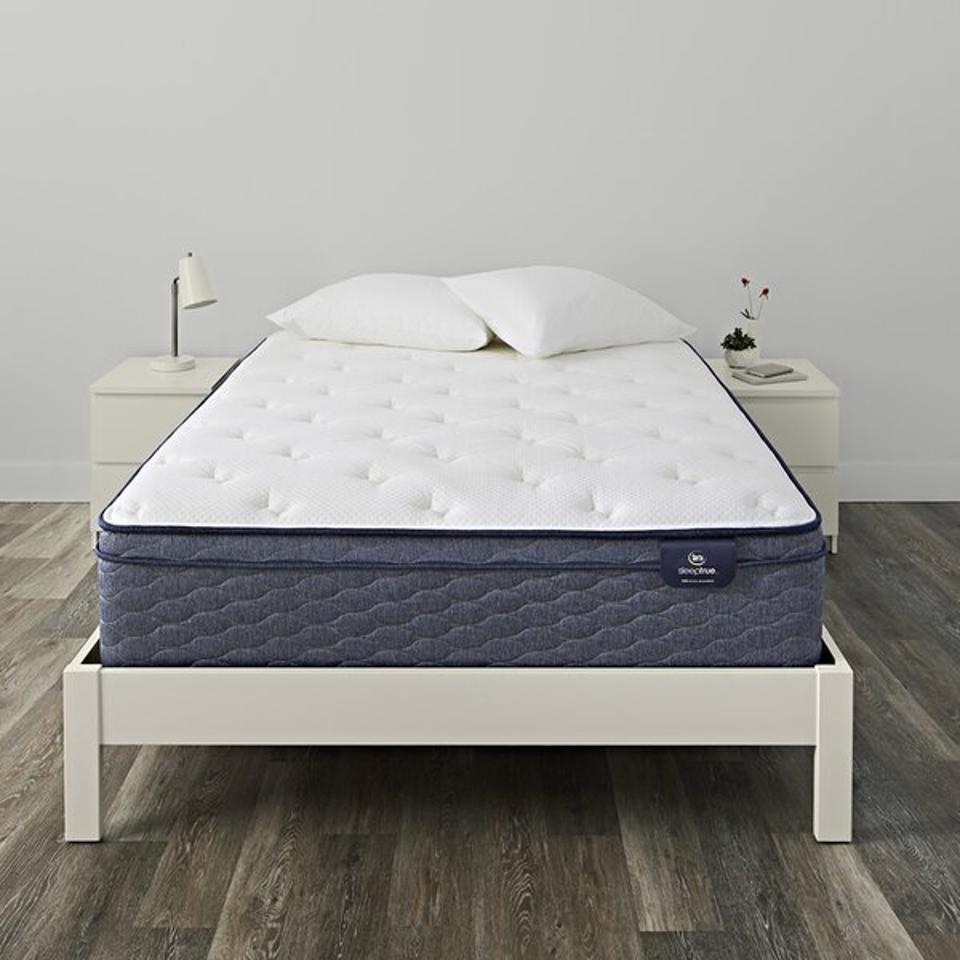 SleepTrue 13″ Plush Pillow Top Hybrid Mattress