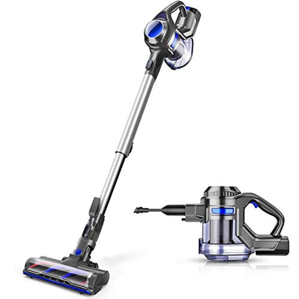 MOOSOO Cordless Vacuum, 4 in 1 Powerful Suction Stick Vacuum Cleaner