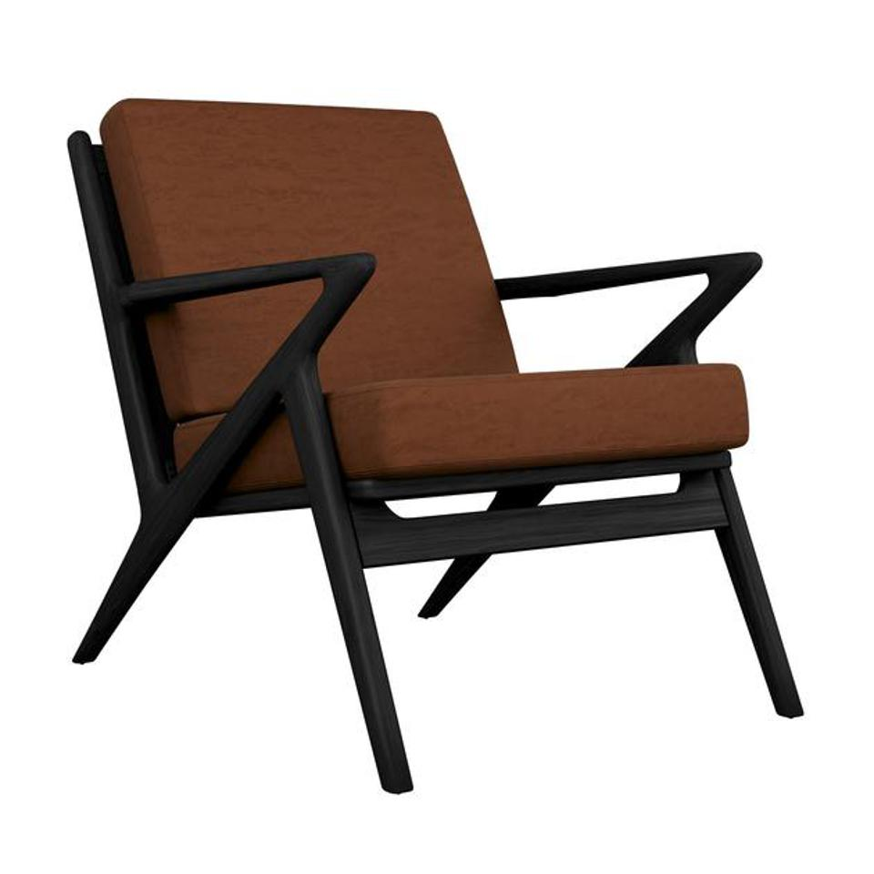 Black Ace Lounge Chair in Whiskey