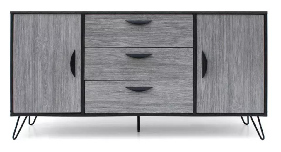 Sincere Mid Century Modern Multipurpose Cabinet Sonoma Gray - Christopher Knight Home