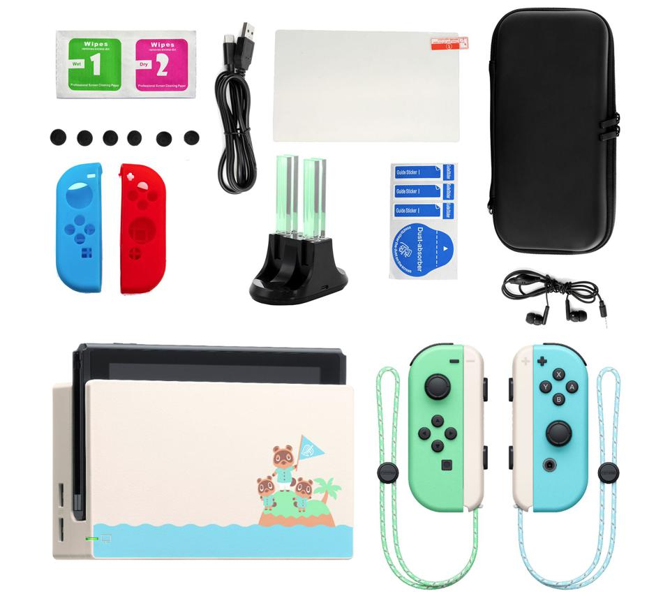 Animal Crossing Special Edition Nintendo Switch with bundled accessories