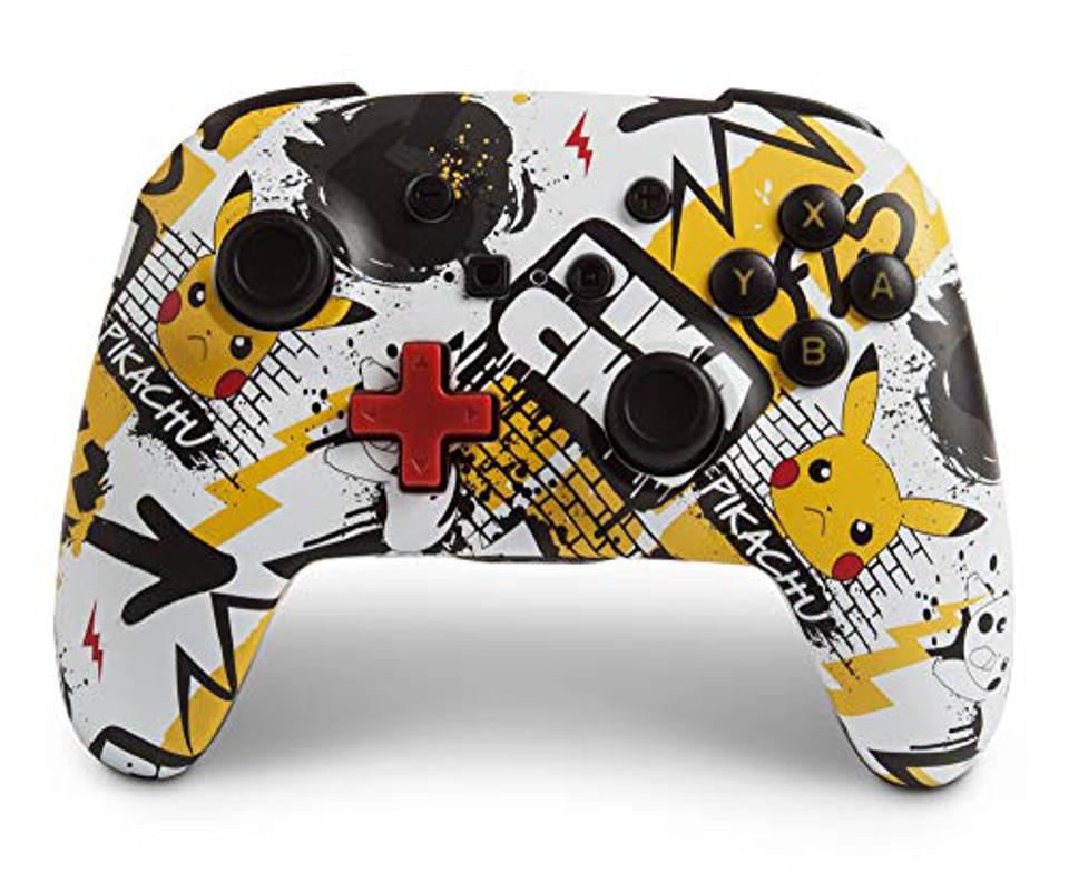PowerA Nintendo Switch wireless controller with Pokémon graffiti art design