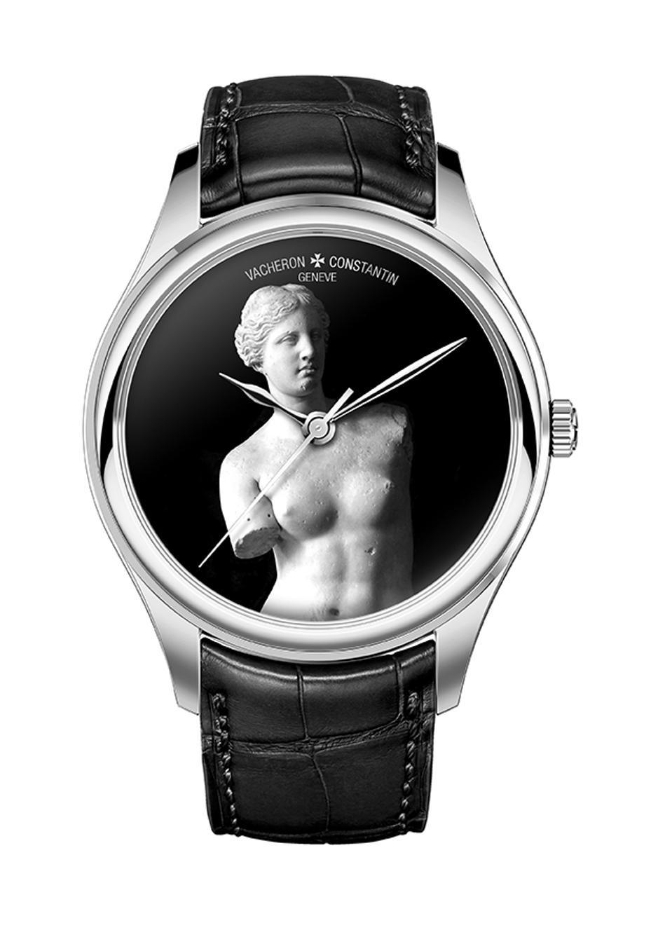 A mock-up of a dial depicting Venus de Milo.