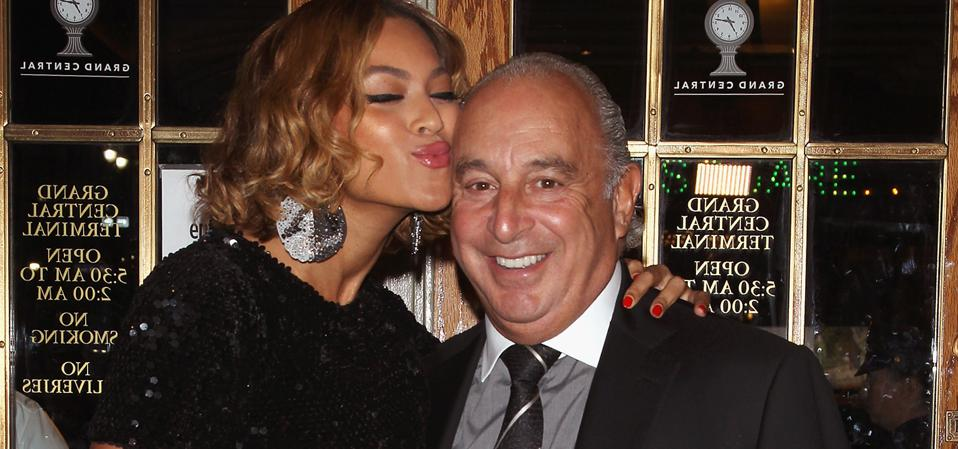 Sir Philip Green and Beyonce