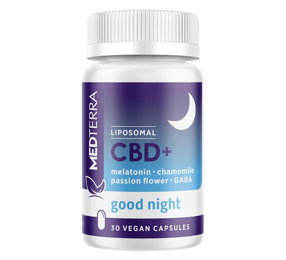 Medterra Good Night Liposomal CBD+ capsules melatonin GABA