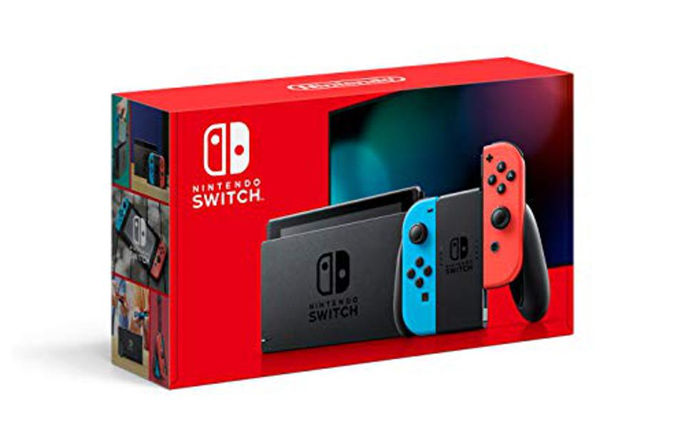 Nintendo Switch Neon Blue / Neon Red console retail box