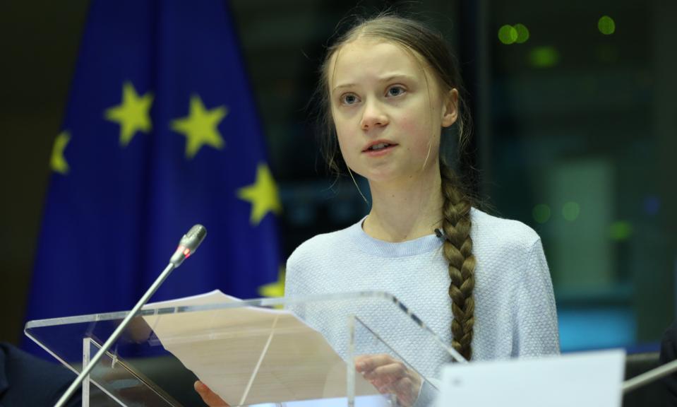 Swedish climate activist Greta Thunberg in Brussels