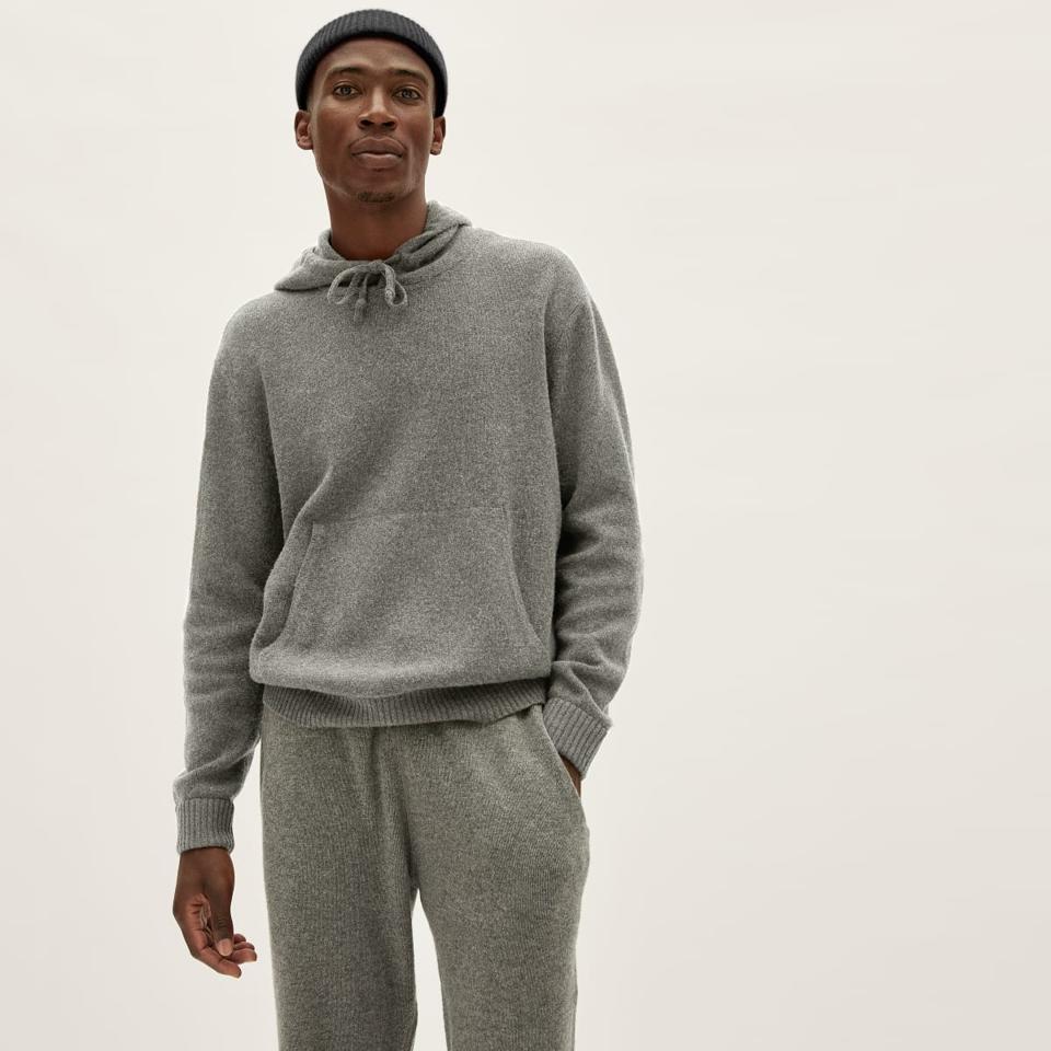 everlane wool gray hoodie.