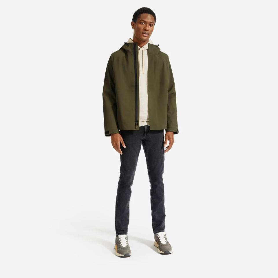 Everlane army green storm jacket.