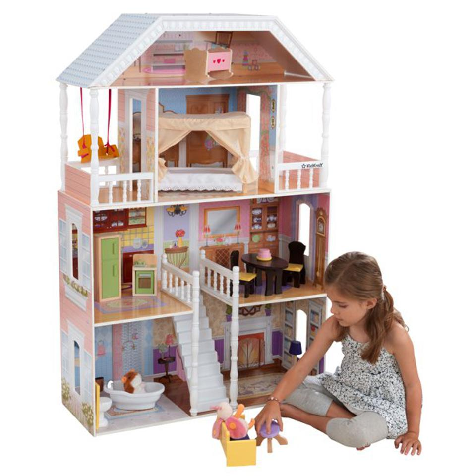 KidKraft Wooden Savannah Dollhouse with 14 Accessories Included